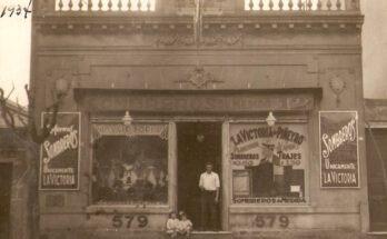 foto tienda la Victoria de Piñeyro, Domínguez 579 (1937)